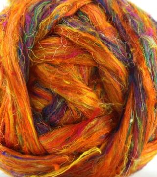 "Sari Silk ""Royal Orange"""