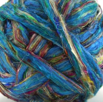 "Sari silk ""Blue River"""
